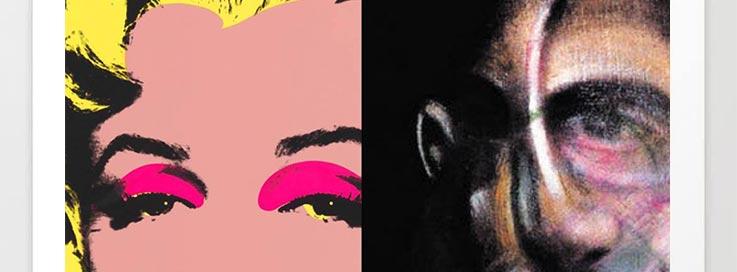 Abstrahierung eines Warhol Bildes